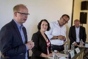 Dansk flyktingpolitik i fokus under första partiledartalet på Folkemødet